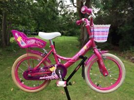 Raleigh Molly girls bicycle 16in wheel for age 4-6