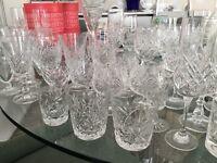 46 Assorted Crystal Glasses, Edinburgh, Gleneagles, Stuart etc