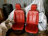 BMW F36 GRAND COUPE RED LEATHER INTERIOR SEATS CARDS 14 15 16 17 KANDRA