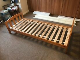 Mothercare children's single pine bed