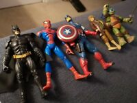 DC comics batman Spiderman