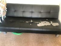 Faux leather sofa/bed folds up and down***** FREE ****