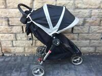 Baby Jogger City Mini pram stroller with foot muff