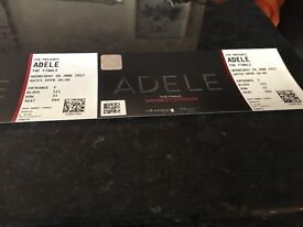 Adele Tickets - amazing lower tier seats x 2 - Weds 28th