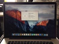 2013 Macbook Pro 15 inch Retina 2.4 i7 (8GB / 256 GB SSD)