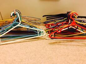 50 assorted hangers