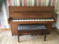 Yamaha piano with duet stool