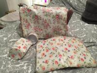Cath Kidston changing nappy baby bag with mat and bottle holder warmer
