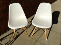 2 Eames Style DSW Chairs