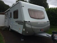 Hymer Nova Caravan 530 LE 2006, 4 berth fixed single beds