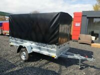 BRAND NEW MODEL 8.7 x 4.2 SINGLE AXLE WITH 150CM COVER AND FRAME TRAILER