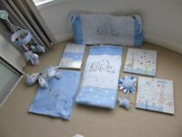 Cot Bedding (Ernest Blue Range by Red Kite)