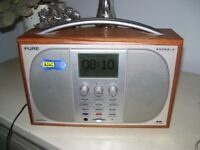 PURE EVOKE 3 DAB/FM RADIO and transformer - pause & rewind feature