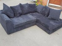 Cute 1 month old black cord corner sofa. clean and tidy. excellent condition.can deliver