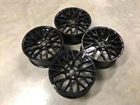 """20"""" Inch Audi R8 V10 Alloy Wheels A4 A5 A6 A7 A8 Skoda 5x112 Gloss black"""