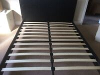 Leather look bedstead