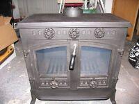 multifuel woodburning stove log burner 12kw