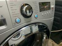 LG Direct Drive 8kg Washing Machine silver
