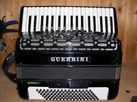 Guerrini Oxford 3, 4 Voice, Musette Tuned, 96 Bass, Piano Accordion.