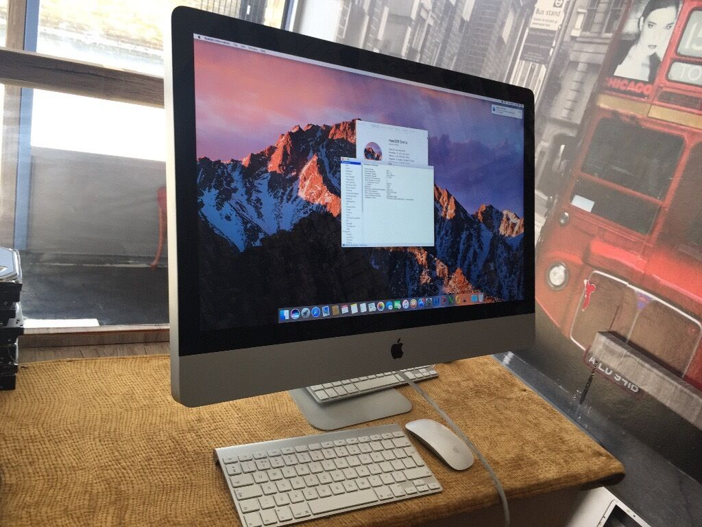 imac 27 intel core i7 8gb ram 1tb hdd apple wireless keyboard magic mouse has latest software. Black Bedroom Furniture Sets. Home Design Ideas