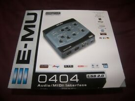 E-MU / EMU 0404 USB 2.0 Audio / MIDI Interface , Sound Card for PC and Mac + Software.