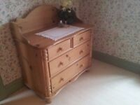 Attractive antique style solid pine dressing table