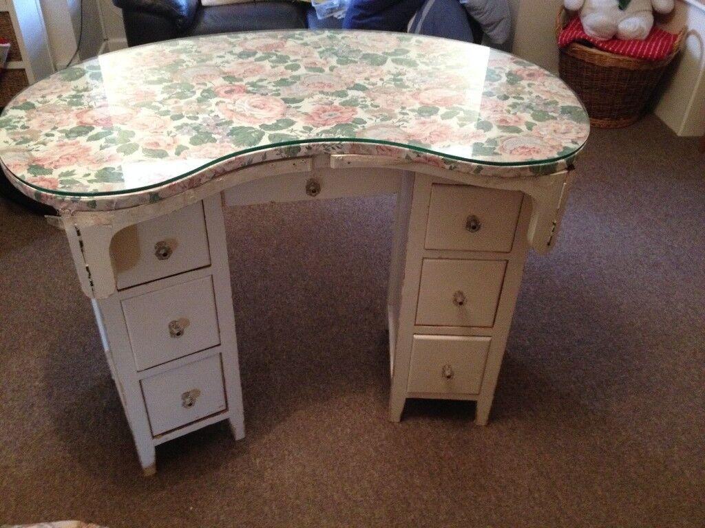 Vintage Kidney Shaped Dressing Table 59 00