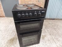 Beko electric cooker in black 50cm wide very good condition .