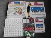SUDOKU THE BOARD GAME WITH 100 UNIQUE PUZZLES FOR 1 OR 2 PLAYERS AGED 8 TO ADULT
