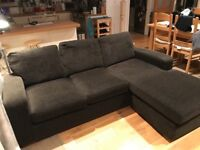 Lovely Dark brown Next corner sofa