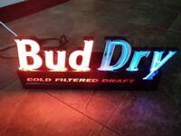 Budweiser BUD DRY Vintage Neon Sign