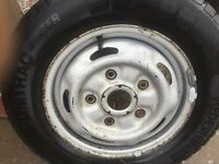 OLD TRANSIT WHEEL END TYRE 20 POUNDS!!!!!!!!!!!!!!!