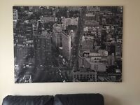 New York black and white canvas [Ikea]