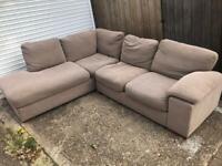 HARVEYS beige fabric large corner sofa