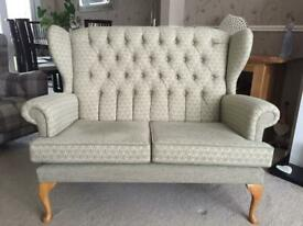 Cottage style two seater sofa