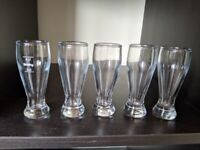 Beer Glass Shaped Shot Glasses x 5