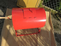 Large Red Raffle Drum on stand