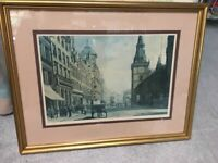 MERRIMAN prints old GLASGOW TRONGATE limited edition signed--------smoke free home