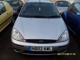 CHEAP FORD FOCUS 1.4 cc..SILVER..5 DOORS..MOT