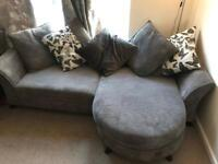 Beautiful grey fabric sofa, great condition.