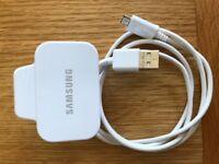 Samsung Galaxy S5 mini UK three pin travel adapter and USB cable