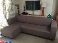 Corner sofa, Tesco Stanza, left chaise, Mocha colour