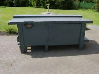 Wooden workbench,sturdy made in very good condition, ideal for joinery,engineers etc