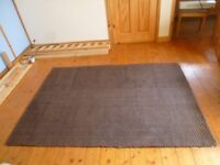 2 Brown Textured Rugs with some discolouration - Hardly Used - 120cm x 170cm - £10 ea