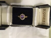 Beautiful Amethyst and Diamond Ring Lovely Christmas Present