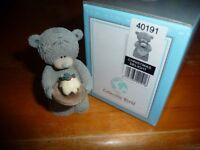 **Retired Me To You/ Tatty Teddy figurine - Christmas Delight ** Brand New