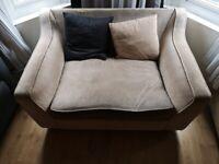 Small double Sofa. Armchair