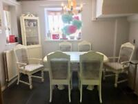 Vintage dining table and chairs with corner unit