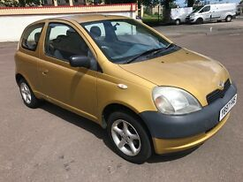 2001 TOYOTA YARIS GS VVTI-1.0L -3-DOOR HATCHBACK MANUAL PETROL FUL SERVICE HISTORY ONE YEAR MOT