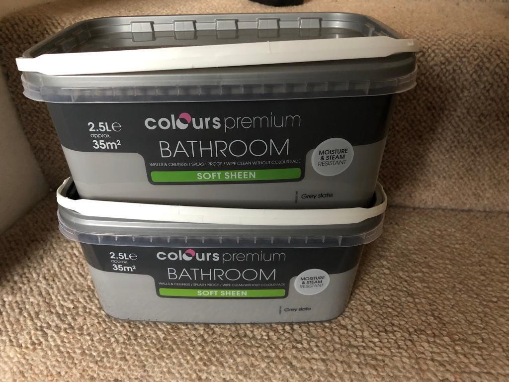 5L B&Q Bathroom Paint Grey Slate - Brand New Sealed | in Castleford ...